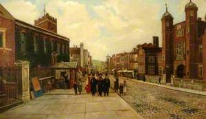 High Street, Guildford, Looking West, with a View of Holy Trinity Church