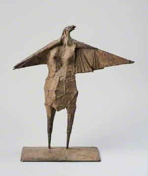Maquette: Winged Female Figure