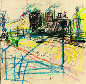 Drawing for Mornington Crescent Painting