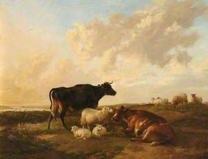 Landscape with Cows and Sheep