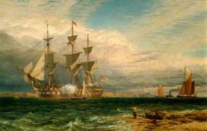 Sheerness, Guardship Saluting