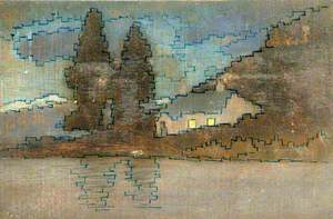 Patterned House and Trees