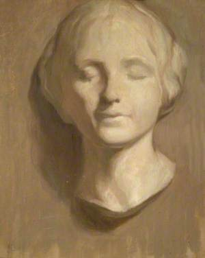 Study of Female Head: Grisaille