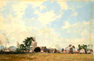 Chobham Church from the Cricket Field, Surrey