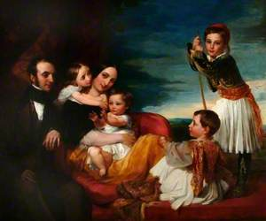 Alexander Constantine Ionides and His Wife Euterpe, with Their Children Constantine, Alexander, Aglaia and Alecco