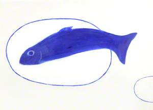 Fish Still Life Blue