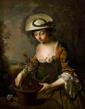 Young Woman with Verbena (Earth)