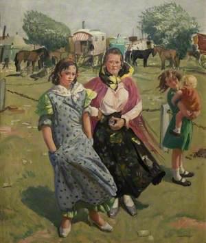 Gypsies on Epsom Downs