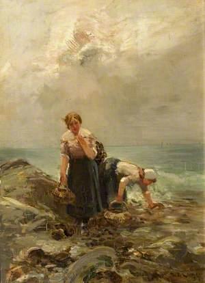 Two Women on a Rocky Shore
