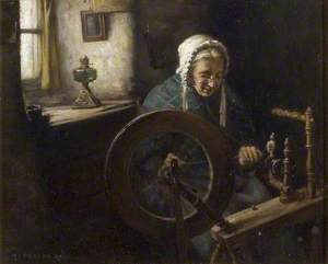 Old Lady Spinning