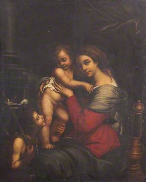 The Virgin and Child,  together with the Infant Saint John the Baptist