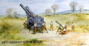 Anti-Aircraft Gun in Action