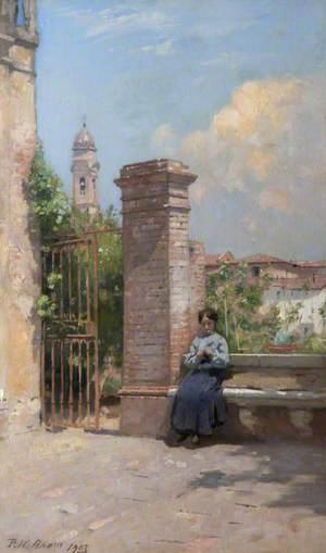 Lady in an Italian Garden