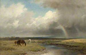 Pastoral Landscape with Rainbow