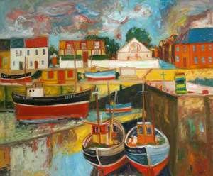 Harbour Scene with Boats