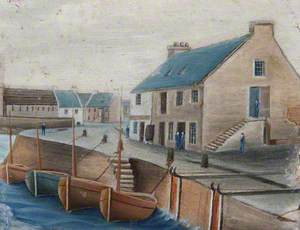 Saltcoats Old Quay, 1855