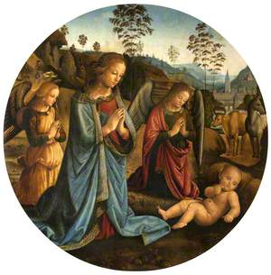 The Madonna Adoring the Christ Child with Angels