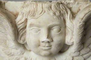 Corbel Modelled as a Winged Cherub's Head