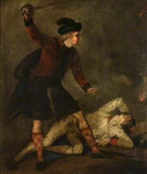 Rob Roy Slaying an Opponent