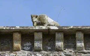 Carved Stone Bison