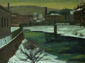 River Teviot and Rondono Mills: Hawick in Winter