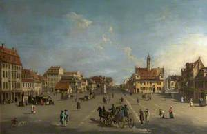 The Neustädter Markt in Dresden