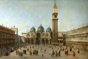 Saint Mark's Square, Venice, Looking towards the Basilica