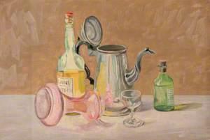 Bottle and Vase Arrangement