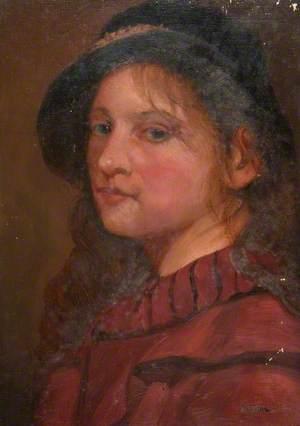Girl's Head (Red Dress)