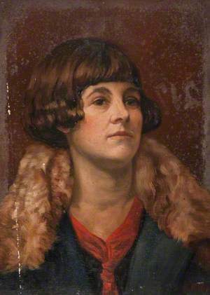 Head of a Young Woman (Red Tie and Green Coat)
