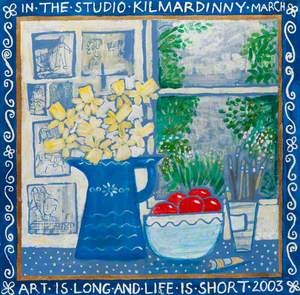 In the Studio at Kilmardinny