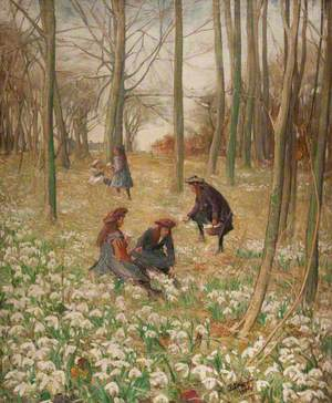 Girls in a Spring Wood