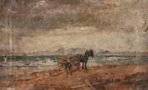 Horse and Cart by the Seaside