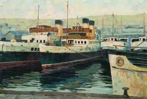 Steamers at Greenock