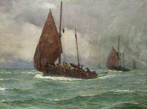 Seascape (Sailing Boats in Bad Weather)
