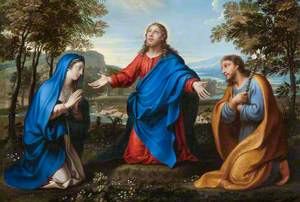 Christ and Two Figures in a Landscape