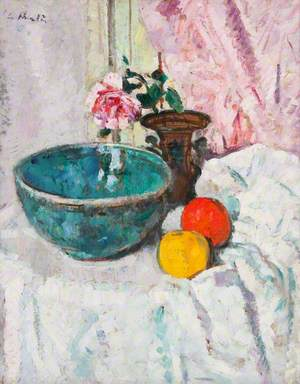 Pink Rose, Fruit and Still Life