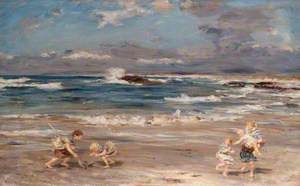 Children Playing on the Surf