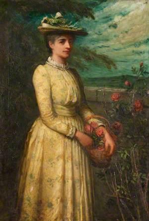Woman Picking Roses*