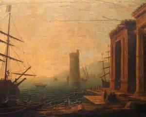 Neoclassical Harbour Scene