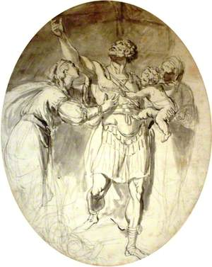 Classical Figures with Infant