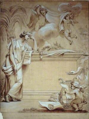 Design for Frontispiece to Handel's Sonatas