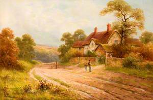 Country Lane with Cottage