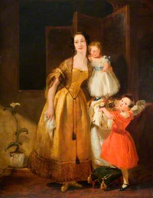Mrs John Prescott Knight and Her Children