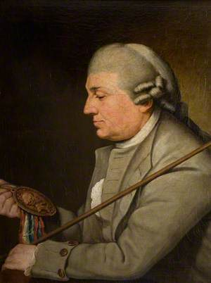 David Garrick in His Regalia as Steward of Stratford Jubilee, 1769