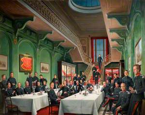 Officers at the Staffordshire Yeomanry at Dinner
