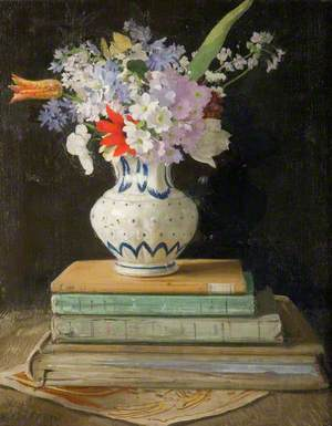 Flower Piece with Books