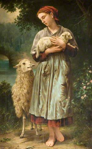 Girl with a Lamb
