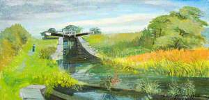Landscape with Lock Gates
