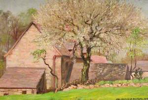 A Cherry Tree in May, New House in Horton